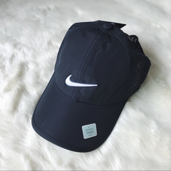 Nike Black Perforated Dri-Fit Hat 593d65975d